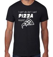 ingrosso pizza migliore-Magliette personalizzate Maglietta girocollo da uomo Best Friend I Want Abs But I Want Pizza More Shirts