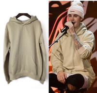 Wholesale clothes young men online - Men Young Boy Hoodies Kanye Justin Biber Style West Fog Design Pullovers Black Hooded Sweatshirts Tops Clothing
