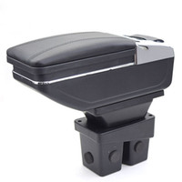 Wholesale honda stores - For Honda City armrest box PU Leather central Store content box cup holder interior car-styling products accessory 2006-2009