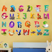 Dessin Animé Coloré 26 Lettres Alphabet Stickers Muraux Pour Enfants  Chambres Chambre Du0027enfant Décor De Chambre Enfants Sticker Art Affiche  Cadeau