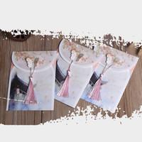 chinesische arteinladungen großhandel-1 STÜCKE Chinesischen Stil Vintage Umschläge Retro Einladungskarten für Papierumschläge Grußkarten Geschenk Studenten Büromaterial