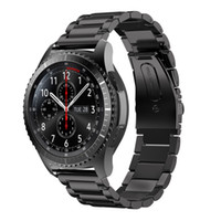 Wholesale galaxy smart watches online – Original Beads L Stainless Steel Strap For Samsung Galaxy Gear S3 Classic Band For Samsung Gear S3 Luxury Frontier Watchband For S3