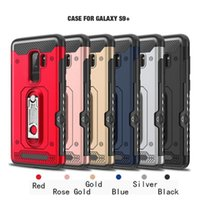 Wholesale heavy duty mobile - samsung galaxy s9 plus case card holder with kickstand active galaxys9plus 9s mobile cell phone heavy duty protective shockproof cover s9plu
