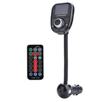 Wholesale Freeshipping Bluetooth LCD Car Kit MP3 Player Audio FM Transmitter FM Modulator Radio SD MMC Universal Wireless Remote Control