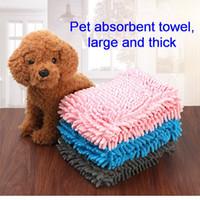 Wholesale Dog Towel Microfiber Chenille Dog Bath Dry Towel Quick Drying Drying Bath Towel Washable Prevent Mud Dirt