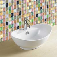 Brick Backsplash Tiles Großhandel 3D Glas Wie Mosaik Wasserdichte Aufkleber  Für Badezimmer Küche Backsplash Selbstklebende