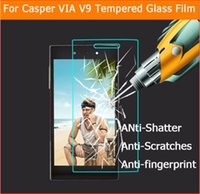 manzana a través al por mayor-Para vidrio templado Turkcell para Turkcell KAAN N1 A1 T50 T60 T70 T80 para Casper V10 V9 V8 V8C Temper Glass Protective