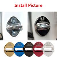 ingrosso occhiali da sole video-4 pezzi quattro colori in acciaio inox car door lock coperchio protettivo adatto per la maggior parte di Honda Civic Accord Crv anti ruggine DoorLock coperture protezioni