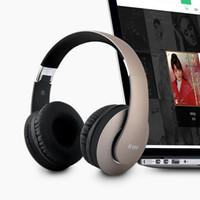 складное беспроводное радио для наушников оптовых-Bluetooth 4.1 Беспроводная стерео складная гарнитура для наушников с поддержкой микрофона TF карта FM-радио для мобильного телефона ПК