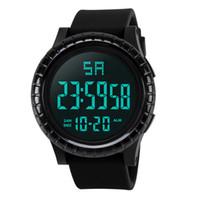 montres lcd de luxe achat en gros de-Nouveaux hommes de luxe Montres Mode étanche hommes garçon LCD numérique chronomètre date caoutchouc Sport montre-bracelet Masculino Reloje
