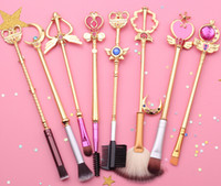 Wholesale Brush Styles - Sailor moon Cosmetic brush Makeup Brushes Set Tools kit Eye Liner Shader natural-synthetic hair Free shipping 2 style
