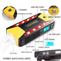 cargadores de batería de coche portátiles al por mayor-Portátil 82800mAh Pack Car Jump Starter Multifunción Cargador de emergencia Power Bank Battery 600A UK Plug