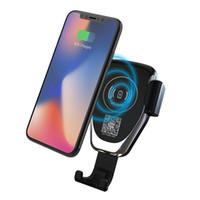 ingrosso modello di auto wireless-Caricatore veloce per auto gravitazionale caricabatterie wireless QI compatibile per Iphone X, Iphone 8, Iphone 8 Plus, per Samsung molti modelli + Spedizione gratuita DHL