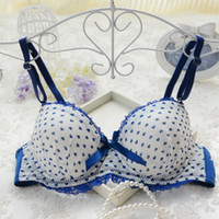Wholesale orange underwire bra - Wicking Pilling No deformation Female summer thin section bra Japanese girl cute lace small chest gather underwear bra students