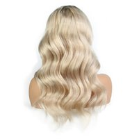 Wholesale full swiss lace human hair wigs for sale - LIN MAN Body Wave Human Hair Wigs Bleached Knots Full Lace Wigs Brazilian Medium Size Swiss Lace Cap Lace Front Wigs