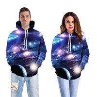 ingrosso grandi abiti da uomo-Brand New 2018 Estate Planet 3D Stampa Felpe con cappuccio Felpa Giacca Pullover Large Size Coppie Uomini Unisex Lovers Baseball abbigliamento