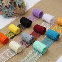 Wholesale ribbons for clothes online - Multi Colors Lace Ribbon cm DIY Craft Clothing Headwear Accessories For Wedding Party Decorations Hot Sale tn CB