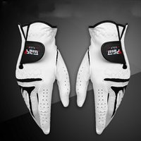 Wholesale golf gloves leather for sale - Group buy Men Left Right Hand Sheepskin Glove With Anti Slip Granules Genuine Leather Golf Gloves Soft Breathable Sports Accessories White xs UU