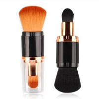 Wholesale eyeshadow blusher powder for sale - Group buy Double Head Makeup Brushes Powder Foundation Blush Make Up Brush Multifunction Eyebrow Eyeshadow Cosmetic Brushes CCA10043