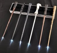 Wholesale harry potter wands led for sale - Group buy LED Light Up Harry Potter Magic Wand Lightup Hermione Voldermort Magic Wands Halloween Cosplay Magic Wand Gift In Box