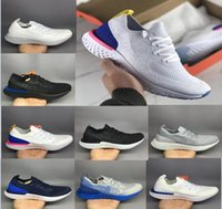 Wholesale Blue Sky Knitting - 2018 Epic React Women Men Running Shoes(With Box) Free Shipping Epic React Sneakers knit Sport Trainers Boost Man Run Shoes