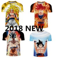 Wholesale Tight Striped Dresses - 2018 the New dragon ball tight short sleeve T-shirt sun wukong battle dress Turtle turtle fairy sporting T-shirts word T-shirt