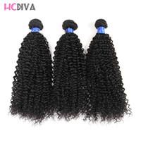 7a doğal sapık saç toptan satış-Kinky Kıvırcık Virgin Vizon İnsan Saç dokuma Uzantıları Sınıf 7A 3 Demetleri 100% Işlenmemiş Doğal Renk Ve Siyah Toptan İnsan Bakire Saç
