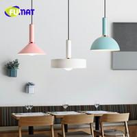 Wholesale Pink Store Clothes - FUMAT Simple Nordic Restaurant Pendant Light Cafe Lamp Danish Designer Postmodern Lamp Macaroons Multicolor Clothing Store Lamp