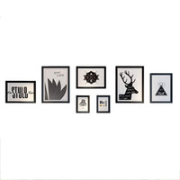 многоцветные картинки оптовых-Multi Фоторамка Набор, Дома И Стены Decorationsphoto, Стены Набор Кадров (Цвет: Черный )