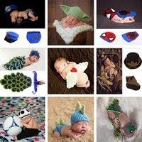 häkeltiere frei großhandel-Neue Ankunft handgemachte Kinder Hut Neugeborenes Baby Häkeln Beanie Kleinkind gestrickt Tier Caps Fotografie Requisiten 10 PC Freies Verschiffen