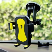 langarm-auto telefonhalter großhandel-Handy Auto Halterung Halter Ständer 360 Grad Drehung Universal Cars Windschutzscheibe langen Arm Smartphone Autos Halter