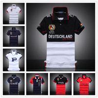 Wholesale Painted City - 2017 Wholesale-Free Big Horse Polo Shirt Men's Fashion City Models Short Sleeve Casual Style Sportswear For Sport Men Safety Clothing