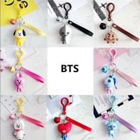 bolsos de moda corea al por mayor-Kpop BT21 TATA KOYA COOKY SHOOKY MANG Llavero de dibujos animados Moda de Corea BTS Bangtan Niños Titular de la llave Bolsa de cadena colgante Llavero