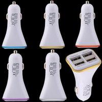 haut-parleurs bluetooth achat en gros de-Pour samsung s8 s9 4 ports usb Adaptateur secteur chargeur de voiture chargeur 4.1A pour iphone 6 7 8 x gps haut-parleur bluetooth