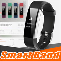 Wholesale bt home - ID115 HR Plus Smart Wristband Fitness APP GPS Activity Tracker Smart Bracelet HR Sleep Monitor Smart Band BT Camera and Music Remote Control