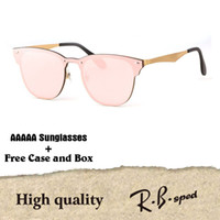 Wholesale vintage framed butterflies - New Arrial Aluminum Magnesium sunglasses women men Brand designer uv400 lens Retro Vintage Sports sun glasses Goggle with free cases and box