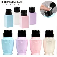 бутылка с жидкостью для насоса оптовых-200ml Empty Pump Liquid Alcohol Dispenser Press Nail Polish Remover Cleaner Bottle Make Up Refillable Container DIY Salon Tool
