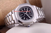 Wholesale transparent sapphire - 4 Color Luxury Topselling 40.5mm Nautilus 5990 1A-001 Stainless Steel High Quality Asia Mechanical Transparent Automatic Mens Watch Watches
