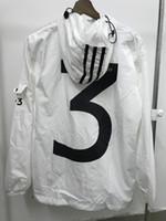 tamaño de la chaqueta del oeste de kanye al por mayor-2018 NUEVA KANYE West Jacket Hip Hop Chaqueta cortavientos Yohji Yamoto 3 Chaqueta con cremallera Tamaño EE. UU. Hombres Impermeable Streetwear Abrigo uniforme chaqueta de abrigo