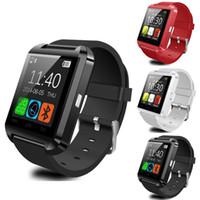 bluetooth наручные часы для android оптовых-U8 Bluetooth Smart Watch сенсорный экран наручные часы для iPhone 7 IOS Samsung S8 Android телефон сна монитор Smartwatch с розничной Packag