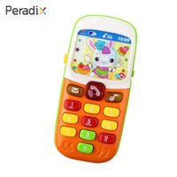 Wholesale Mobile Telephones - Telephone Gifts Electric Cellphone Toys Congintive Plastic Education Mobile