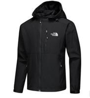 жакеты северные оптовых-Новые мужские дизайнерские куртки с длинным рукавом ветровка ветрозащитная Мужская молния водонепроницаемая куртка лицо север балахон пальто одежда