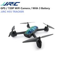 Wholesale jjrc h37 online - JJRC H55 TRACKER WIFI FPV With P HD Camera GPS Positioning RC Drone Quadcopter Camouflage RTF VS Eachine E58 H37