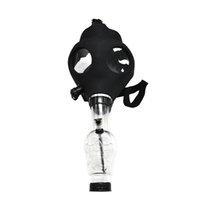 bongs de acrílico envío gratis al por mayor-Máscara de silicona Tubo Bong bongs máscara creativa acrílico pipa Máscara de gas Tubos de acrílico libre del envío