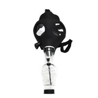 akrilik duman boruları toptan satış-Silikon Maske Boru Bong Yaratıcı Maske Akrilik Sigara Boru Gaz Maskesi akrilik bongs Borular ücretsiz kargo