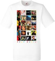 impressão de camisa de sublimação venda por atacado-100% algodão casual manga curta ROXY MÚSICA ÁLBUNS T SHIRT SUBLIMAÇÃO verão Venda Quente Nova Tee Impressão Homens T-Shirt Top