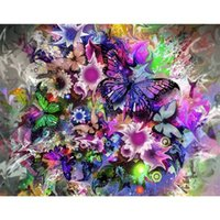 Wholesale butterfly folk art for sale - 40 cm Butterfly Full D Diamond Painting Kit Decoración Del Hog Home Decor Wall Art Square Diamond Craft Supplies