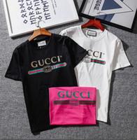Wholesale watch shorts online - Classic Watch straps GC UNisex T shirt Brand CC logo Letter Printed T shirt Short Sleeve women fashion Hip Hop Street Style Tee Shirt