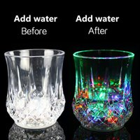 Wholesale LED Flashing Glowing Water Liquid Activated Light up Wine Glass Cup Mug Luminous Party Clubs Cup