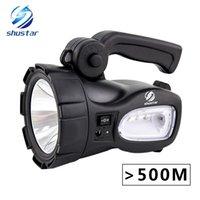 hochleistungs-akku led-taschenlampen großhandel-Wieder aufladbare helle LED Taschenlampe 20W Hochleistungssuchscheinwerfer Eingebaute 2300mAh Lithiumbatterie Zwei Arbeitsmodi